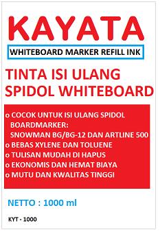 Tinta Whiteboard refill murah dan berkualitas KAYATA 1 Liter