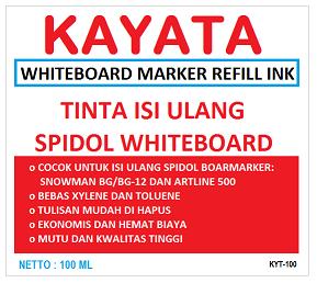 Tinta Whiteboard refill murah dan berkualitas KAYATA 100 ml