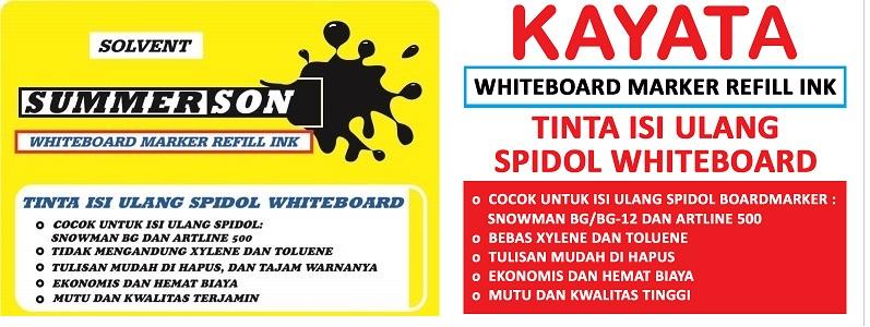 Tinta Spidol whiteboard murah Summerson dan Kayata