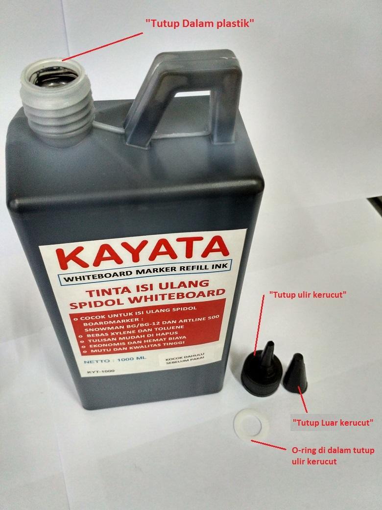 Tinta Spidol Whiteboard kemasan besar Literan Kayata 1 liter