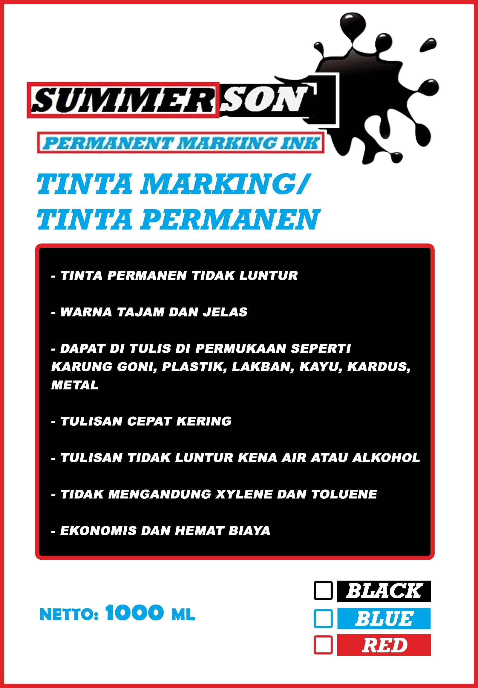 Tinta-Permanen-marking-Summerson-1-Liter-Murah-dan-Berkualitas